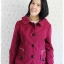 ((ขายแล้วครับ))ca-2657 เสื้อโค้ทกันหนาวผ้าวูลสีม่วงบานเย็น รอบอก38 thumbnail 1