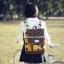 กระเป๋าเป้ยี่ห้อ Super Lover สไตล์เกาหลีใต้ ลายไข่วงกลมสีเหลือง มีช่องใส่โน้ตบุ๊ค (Preorder) thumbnail 4