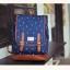 """กระเป๋าเป้สะพาย ยี่ห้อ Superlover สไตส์ญี่ปุ่น มีช่องใส่ Notebook14"""" สีน้ำเงินดอกไม้ (Pre-Order) thumbnail 4"""