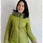 ((ขายแล้วครับ))((จองแล้วครับ))ca-2634 เสื้อโค้ทกันหนาวผ้าร่มสีเขียว รอบอก36 thumbnail 1