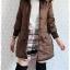 ((ขายแล้วครับ))((คุณPencyจองครับ))ca-2631 เสื้อโค้ทกันหนาวผ้าร่มสีน้ำตาล รอบอก38 thumbnail 3