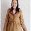 ((ขายแล้วครับ))((คุณSomitaจองครับ))ca-2702 เสื้อโค้ทกันหนาวผ้าวูลสีกากี รอบอก36 thumbnail 1