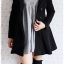 ((ขายแล้วครับ))((คุณMeemeeจองครับ))ca-2715 เสื้อโค้ทกันหนาวผ้าวูลสีดำ รอบอก33 thumbnail 3