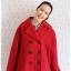 ((ขายแล้วครับ))((จองแล้วครับ))ca-2722 เสื้อโค้ทกันหนาวผ้าวูลสีแดง รอบอก46 thumbnail 1