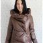 ca-2646 เสื้อโค้ทกันหนาวผ้าร่มขนเป็ดสีน้ำตาล รอบอก38 thumbnail 1