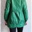 ca-2254 เสื้อโค้ทกันหนาวผ้าร่มสีเขียว รอบอก38 thumbnail 2