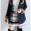 ((ขายแล้วครับ))((จองแล้วครับ))ca-2664 เสื้อโค้ทกันหนาวผ้าวูลสีกรมท่า รอบอก36 thumbnail 3