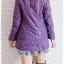 ((ขายแล้วครับ))((จองแล้วครับ))ca-2665 เสื้อโค้ทกันหนาวผ้าร่มสีม่วง รอบอก36 thumbnail 2