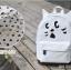กระเป๋าเป้ยี่ห้อ Super Lover Orecchiette เกาหลีการ์ตูนสไตล์กระเป๋าเป้สะพายหลังน่ารัก (Preorder) ใบเล็กสีขาว thumbnail 7