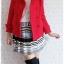 ((ขายแล้วครับ))((จองแล้วครับ))ca-2583 เสื้อโค้ทกันหนาวผ้าวูลสีแดง รอบอก34 thumbnail 3