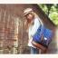 """กระเป๋าเป้สะพาย ยี่ห้อ Superlover สไตส์ญี่ปุ่น มีช่องใส่ Notebook14"""" สีน้ำเงินดอกไม้ (Pre-Order) thumbnail 10"""