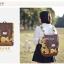 กระเป๋าเป้ยี่ห้อ Super Lover สไตล์เกาหลีใต้ ลายไข่วงกลมสีเหลือง มีช่องใส่โน้ตบุ๊ค (Preorder) thumbnail 3