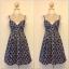 Topshop Blue and Cream Circle Pattern Dress Size uk10 thumbnail 1