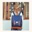 """กระเป๋าเป้สะพาย ยี่ห้อ Superlover สไตส์ญี่ปุ่น มีช่องใส่ Notebook14"""" สีน้ำเงินดอกไม้ (Pre-Order) thumbnail 13"""