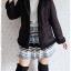 ((ขายแล้วครับ))((จองแล้วครับ))ca-2594 เสื้อแจ๊คเก็ตกันหนาวผ้าชามัวร์สีดำ รอบอก42 thumbnail 3