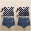 Topshop dots crop top Size uk10 thumbnail 1
