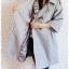 ca-2358 เสื้อโค้ทกันหนาวผ้าวูลสีเทา รอบอก38 thumbnail 3