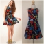 ASOS Flower Dress Size Uk10 thumbnail 1