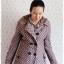 ((ขายแล้วครับ))((คุณDAจองครับ))ca-2717 เสื้อโค้ทกันหนาวผ้าถักลายม่วงเทา รอบอก38 thumbnail 1