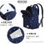 """กระเป๋าเป้สะพาย ยี่ห้อ Superlover สไตส์หญิงเกาหลี มีช่องใส่ Notebook14"""" และกระเป๋าเป้ใบเล็ก สีน้ำเงินดอกไม้ (Pre-Order) thumbnail 17"""