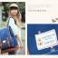 """กระเป๋าเป้สะพาย ยี่ห้อ Superlover สไตส์ญี่ปุ่น มีช่องใส่ Notebook14"""" สีน้ำเงินดอกไม้ (Pre-Order) thumbnail 25"""