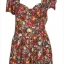 Topshop print Rose Playsuit Size Uk10 thumbnail 3